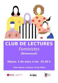 Cartell Club Lectures Feministes març