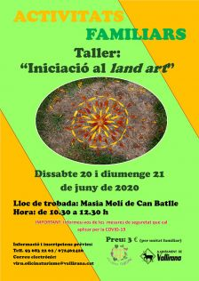 Activitat familiar taller d'iniciació al Land Art